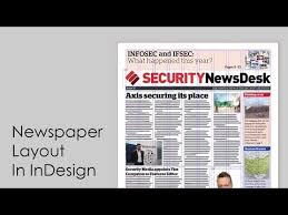 Creating A Newspaper Template How To Design A Newspaper Newspaper Layout In Indesign
