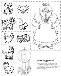 Old-Lady-Who-Swallowed-a-Fly-Mobile Sequencing   Swallows, Nursery ...