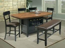 counter height kitchen table bar dining with bench round rectangular granite top