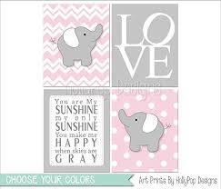 >amazon pink gray nursery art baby girl nursery decor baby  pink gray nursery art baby girl nursery decor baby elephant art you are