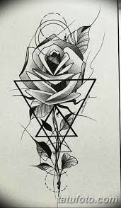 черно белый эскиз тату геометрия 09032019 048 Tattoo Sketch