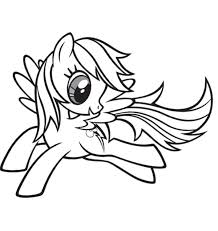 Small Picture Rainbow Dash Coloring Pages Clipart Panda Free Clipart Images