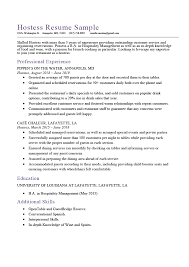 hostess sample resume hostess resume sample expert writing tips resume genius