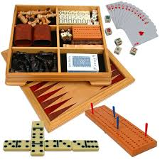 Wooden Board Game Sets Amazon Deluxe 10000in100 Game Set Chess Checkers Backgammon 25