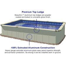 rectangle above ground swimming pool. Aluminum Above Ground Pool Rectangle Swimming