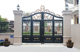 Home Gate Design Picture China Garden Entrance Aluminum Double Gate Design For Home