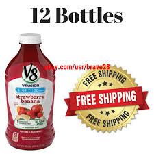 V8 Strawberry Banana Light 12bottles V8 V Fusion Light Strawberry Banana 46 Oz