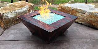 gas fire table fire pits stamped concrete patio round propane gas fire pit table