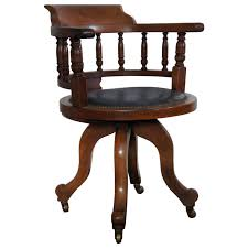 vintage office chairs for sale. antique victorian walnut captainu0027s chair desk with leather seat vintage office chairs for sale o