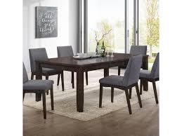 Elements International Piper Dpp100dt Modern Dining Table With Leaf