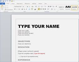 Resume Template For Word 2010 Free For Download How To Create Your