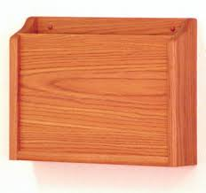 15 W Hanging File Holder Single Pocket Wall Mount Hipaa Compliant Medium Oak