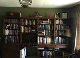 home office remodel. Bookcases Before Our Budget Friendly: How To Remodel The Home Office From Walking On Sunshine
