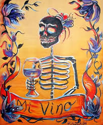 day of the dead painting mi vino by heather calderon
