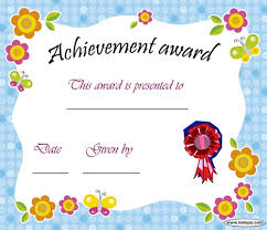 certificates of completion for kids printable achievement award certificate daycare pinterest