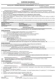 Resume Format Sample With Experience