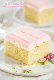 easy yellow cake recipe with ercream frosting