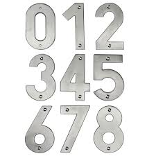 jedo contemporary grade 304 stainless steel large front door numbers 0 9 100mm