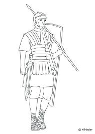 Kids N Fun Kleurplaat Romeinse Tijd Romeinse Soldaat