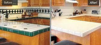 refinish tile countertops diy