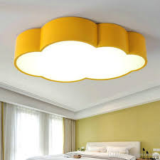 2018 leled cloud kids room lighting children ceiling lamp baby ceiling light with yellow blue red white for boys girls bedroom fixtures from dpgkevinfan