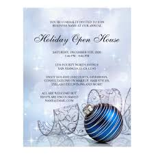 business open house flyer template festive business holiday open house flyer template