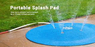 my splash pad portable splash pad instant aquatic splash pad for the backyard that attaches