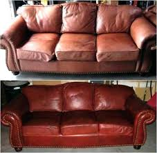 refinish leather couch how to re leather couch re worn leather sofa repairing repairing leather couches