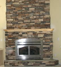 stone fireplace corner faux mantel shelf makeover electric smlf faux