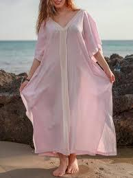 plus size <b>bohemian</b> v-neck batwing sleeve <b>women maxi dress</b> at ...