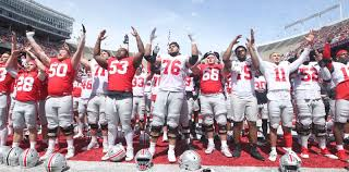 Ohio State Spring Game Depth Chart Ohio State Sings Carmen Ohio After Spring Game