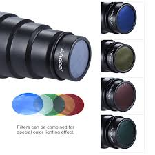 Us 13 6 21 Off Andoer Conical Flash Snoot Light Modifier W 50 Degree Honeycomb Color Filter Universal For Photography On Camera Speedlite In Flash