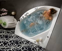 balteco whirlpool linea corner bath at bathroom city