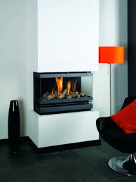 contemporary nice fantastic cool wonderful cool 3 sided gas fireplace with small design and has white