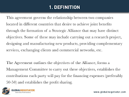 contract between 2 companies international strategic alliance agreement contract template and sa