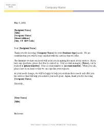 Sample Business Letter In Word Business Letter Template For Word