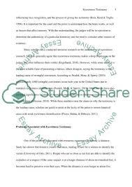 problems associated eyewitness testimony research paper problems associated eyewitness testimony essay example