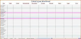 16 Studious Gym Routine Chart