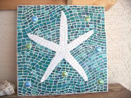 mosaic starfish wall art starfish decor wall hanging stained in well known large