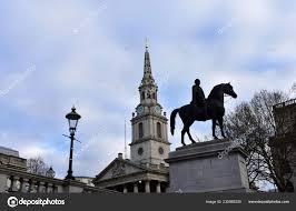 Martin Fields Church Trafalgar Square George Equestrian Statue London  United — Stock Photo © jmbf #235986200