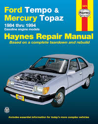 ford tempo mercury topaz all 2wd gas 84 94 haynes repair enlarge ford tempo mercury topaz