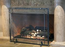 freestanding fireplace screen s free standing screens with pertaining to idea 13