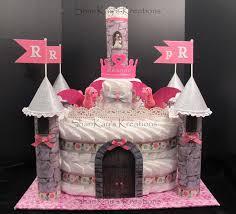 13 Castle Diaper Cakes For Girls Creative Photo Princess Castle