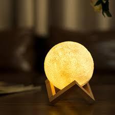 novelty 3d moon printing led table lamp