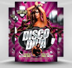 Free Flyer Disco Diva Free Flyer Template Flyerheroes