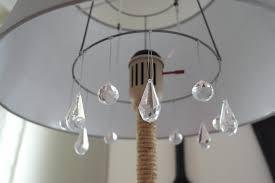 floor lighting chandelier swith floor lighting ideas. Vintage Diy Chandelier Floor Lamp Makeover Sypsie Designs Featured On Remodelaholic Lighting Swith Ideas