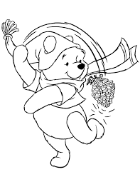Small Picture Winter Themed Coloring Pages Winnie The Pooh Winter Coloring