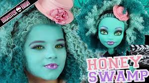 monster high honey sw doll makeup tutorial for halloween or cosplay kittiesmama