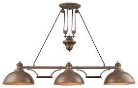 elk farmhouse metal island lights tarnished brass