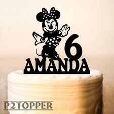Minnie Mouse Cake Topperminnie Mouse Birthday Cake Etsy